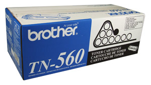 Brother TN560 Black OEM High-Yield Toner Cartridge -  DCP-8020, HL-1650, MFC-8420 - (6,500 pages)