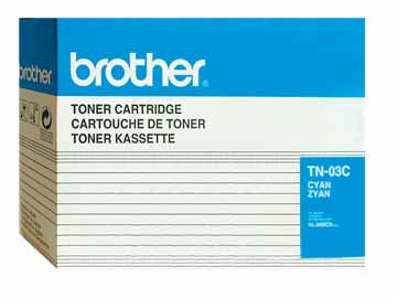 Brother TN03C Cyan OEM Toner Cartridge - HL-2600CN - (7,200 pages)