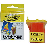 Brother LC21Y Yellow OEM Ink Cartridge - MFC-3100C, 3200C, 5100C, 5200C, IntelliFax 1800c - (950 pages)