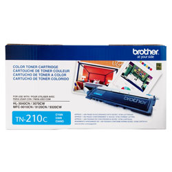 Brother TN210C Cyan OEM Toner Cartridge - HL-3040CN, HL-3070CW series - (1,400 pages)