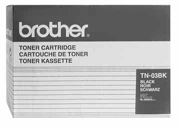 Brother TN03BK Black OEM Toner Cartridge - HL-2600CN - (12,000 pages)