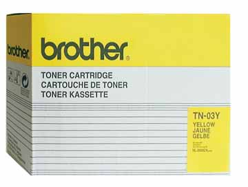 Brother TN03Y Yellow OEM Toner Cartridge - HL-2600CN - (7,200 pages)