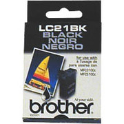Brother LC21BK Black OEM Ink Cartridge - MFC-3100C, 3200C, 5100C, 5200C, IntelliFax 1800c - (950 pages)