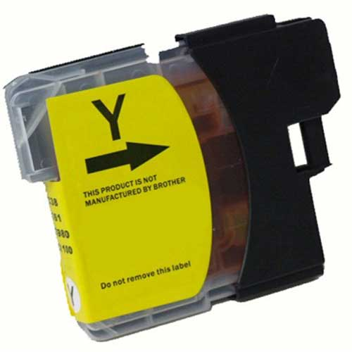 Brother LC65HYY High Yield Yellow Premium Compatible Ink Cartridge - MFC 5890, MFC 6490, MFC 6890 - (750 pages)