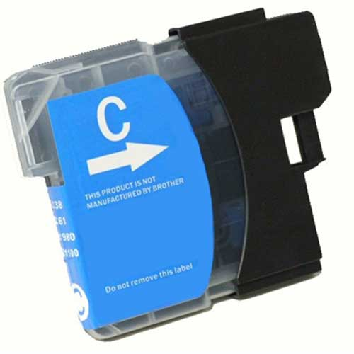 Brother LC65HYC High Yield Cyan Premium Compatible Ink Cartridge - MFC 5890, MFC 6490, MFC 6890 - (750 pages)