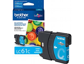 Brother LC61CS Cyan OEM Ink Cartridge - MFC 5890cn series - (325 pages)