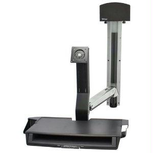 Ergotron Styleview Sit-stand Combo System With Worksurface, Small Black Cpu Holder