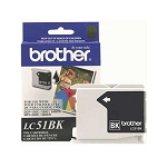 Brother LC51BK Black OEM Inkjet Cartridge - IntelliFax 1360, MFC-240C, DCP-130C - (400 pages)