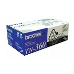 Brother TN360 Black OEM High Yield Toner Cartridge - HL 2140, DCP-7030, MFC-7440N series - (2,600 pages)